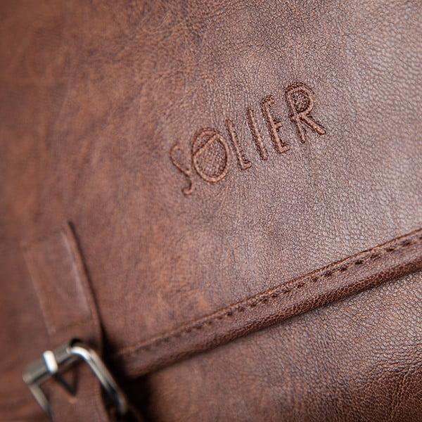 Pánská taška Solier S12, světle hnědá