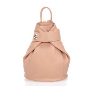 Růžovobéžový kožený batoh Lisa Minardi Narni