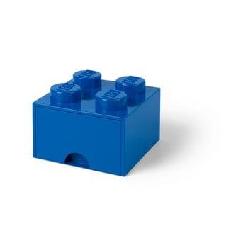 Cutie depozitare cu sertar LEGO®, albastru imagine