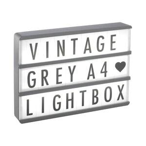 Světelný box s 85 znaky Gingersnap Grey Wood A4