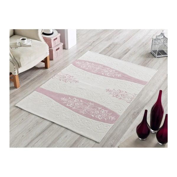 Bavlněný koberec Rose Ornament, 100 x 150 cm