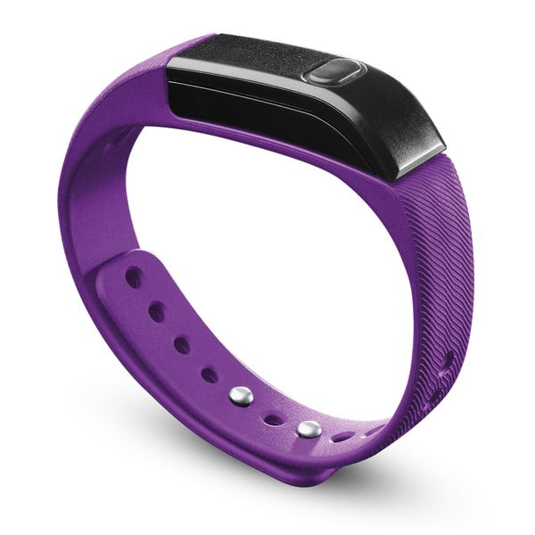 Bluetooth fitness náramek CellularLine EASYFIT, růžovo-černý