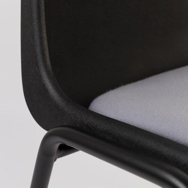 Židle Back to Gym, černá/šedá
