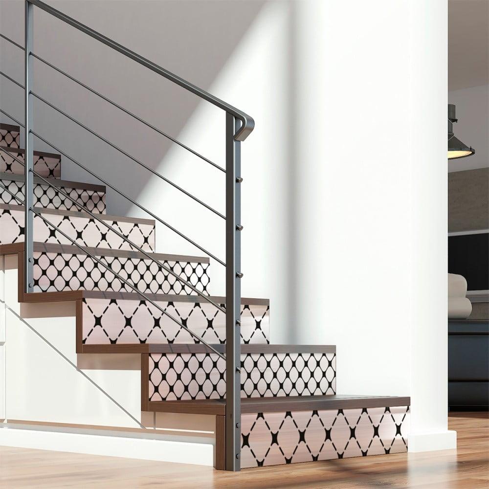 Sada 2 samolepek na schody Ambiance Sanela, 15 x 105 cm
