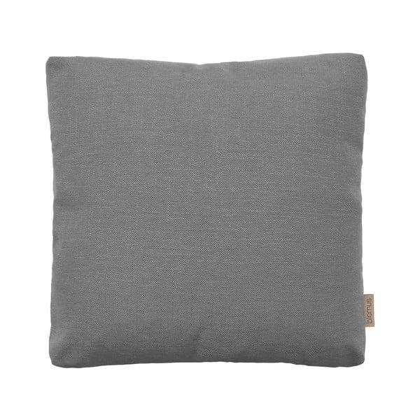 Šedý bavlněný povlak na polštář Blomus, 45x45cm