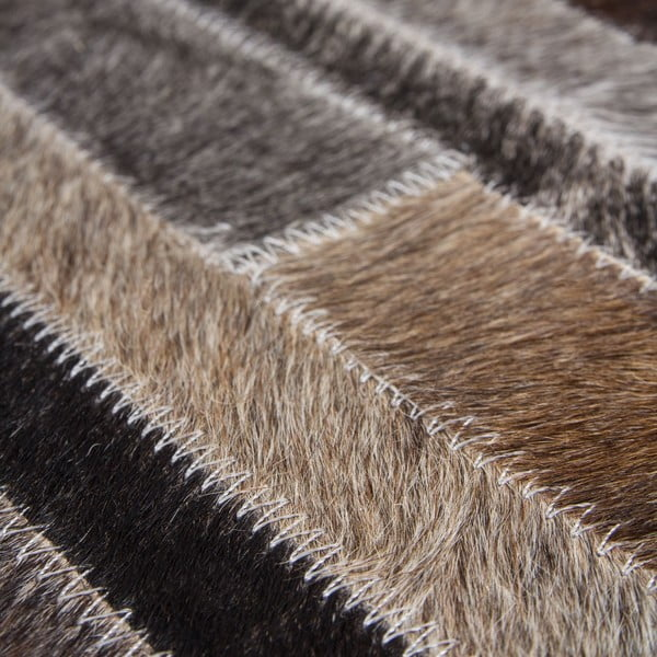 Kožený koberec Eclipse Grey Brown, 80x150 cm