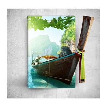 Tablou de perete 3D Mosticx Tropical Boat Voyage, 40 x 60 cm de la Mosticx