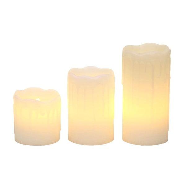 Sada 3 bílých LED svíček Christmas