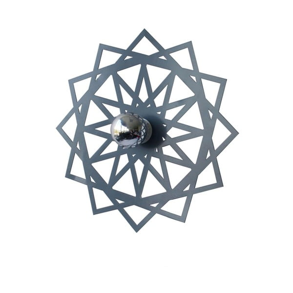 Dekorativní disk kolem světla Disque, šedý