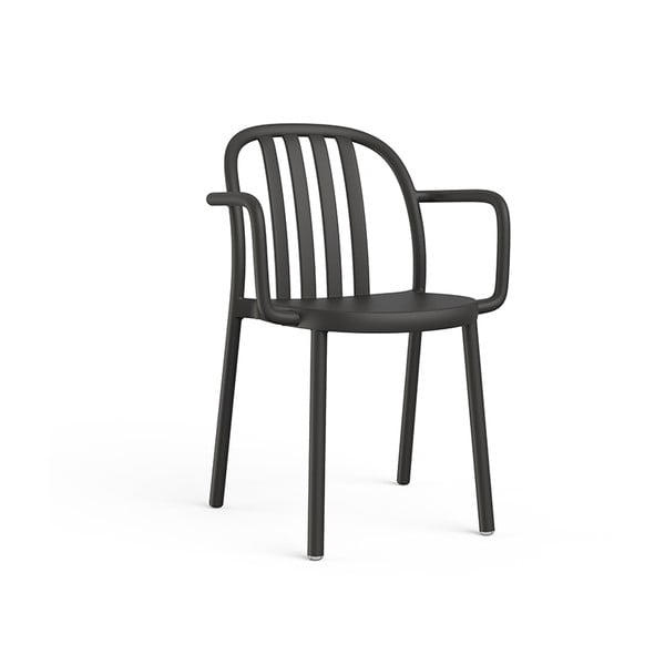 Set 2 scaune de grădină cu cotierei Resol Sue, negru