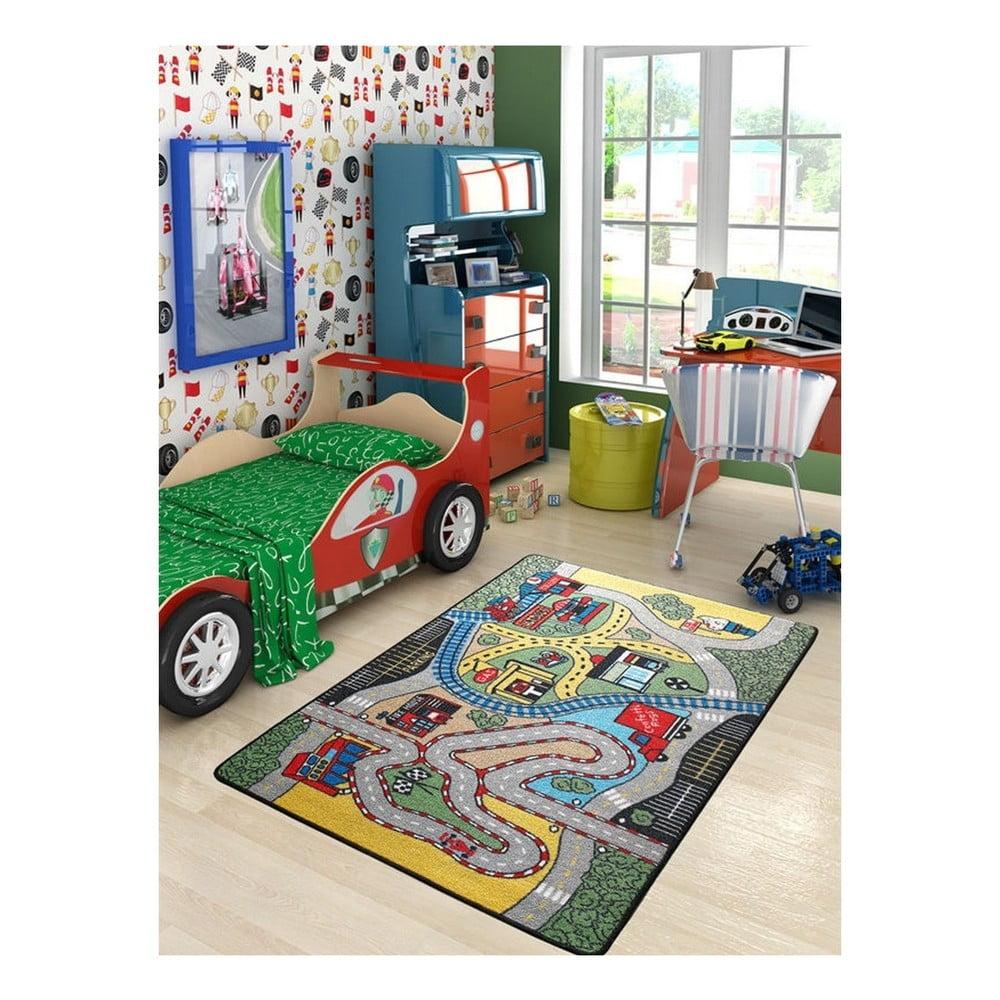 Dětský koberec Race, 100 x 150 cm