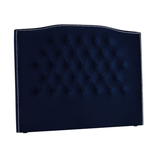 Námořnicky modré čelo postele Mazzini Sofas, 160 x 120 cm