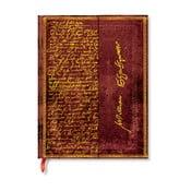 Agendă Paperblanks Shakespeare, 18 x 23 cm