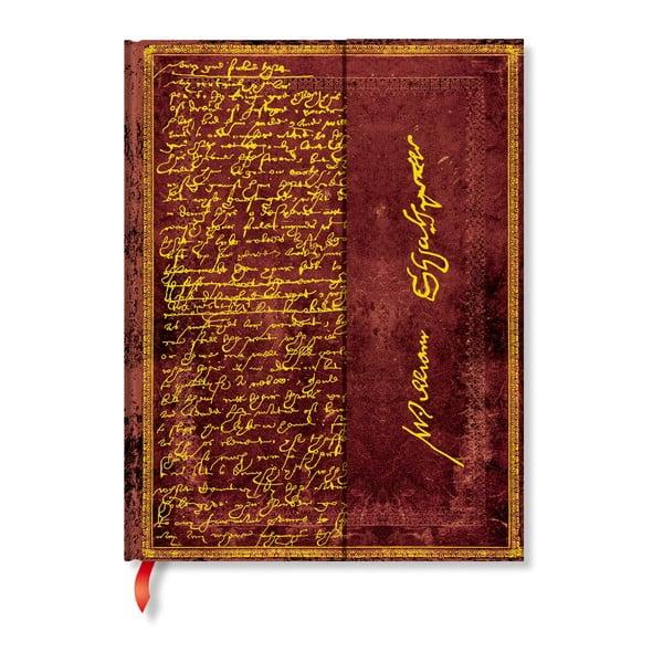 Linkovaný zápisník s tvrdou vazbou Paperblanks Shakespeare, 18 x 23 cm