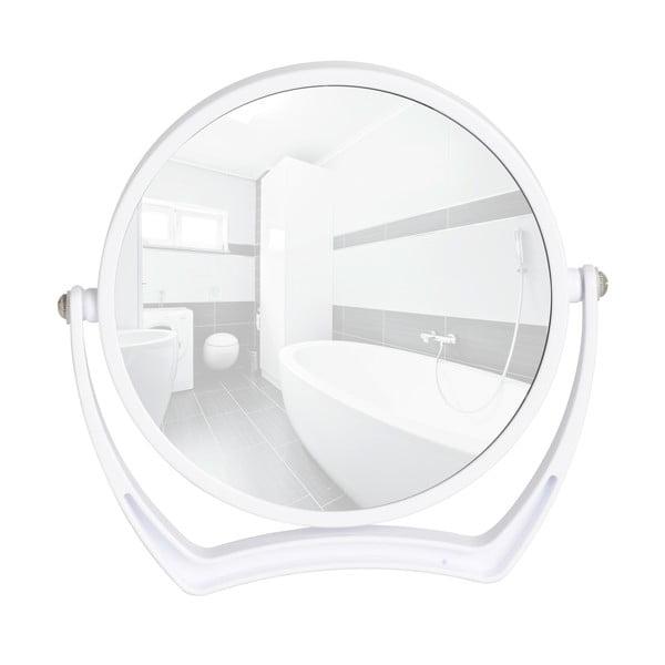 Bílé kosmetické stojací zrcadlo Noale, Ø19 cm