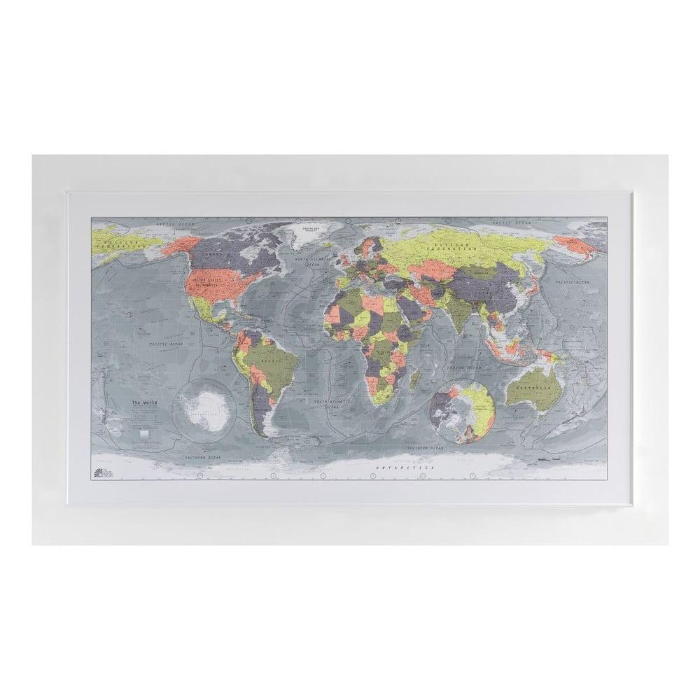 Magnetická mapa světa The Future Mapping Company Classic World Map, 130x72cm