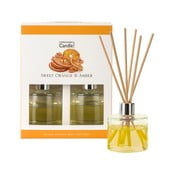 Set 2 difuzoare parfum Copenhagen Candles Sweet Orange & Amber, 40 ml