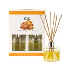 Sada 2 aroma difuzérů s vůní pomeranče a jantaru Copenhagen Candles, 40 ml