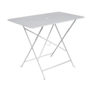 Bílý zahradní stolek Fermob Bistro, 97 x 57 cm