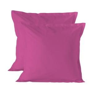 Sada 2 růžových povlaků na polštář Basic, 60x60cm
