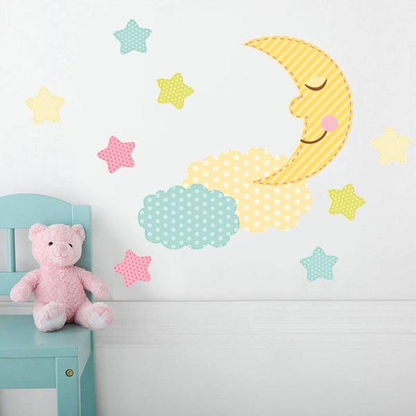 Samolepka na zeď Barevný měsíček, 70x50 cm