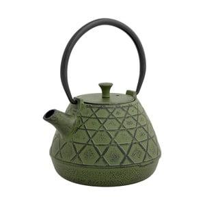 Olivově zelená čajová konvice se sítkem Brandani Cast,1l