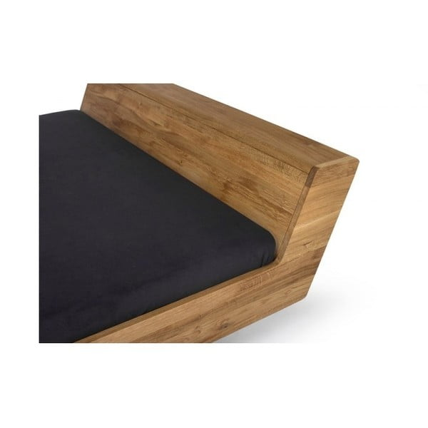 Postel z voskovaného dubového dřeva Mazzivo Lugo, 180x200cm