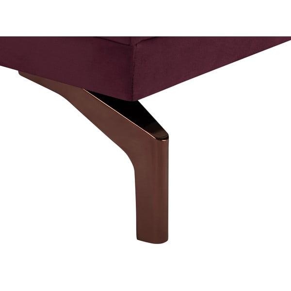 Bordeaux červená trojmístná pohovka s podnožím ve zlaté barvě Windsor & Co Sofas Jupiter