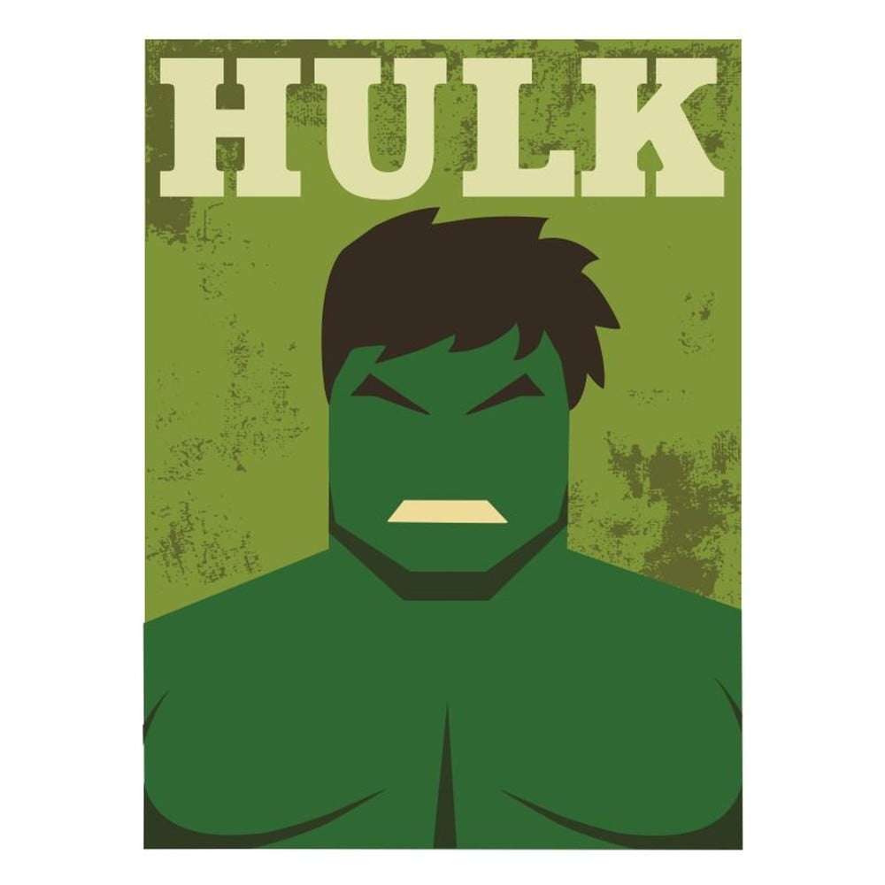 Plakát Blue-Shaker Super Heroes Hulk, 30 x 40 cm