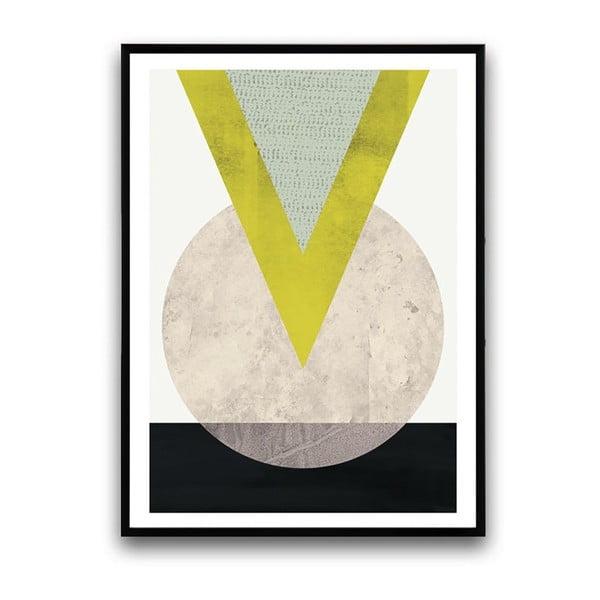 Plakát v dřevěném rámu Eruca, 38x28 cm