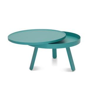 Zelený odkládací stolek s úložným prostorem Woodendot Batea M
