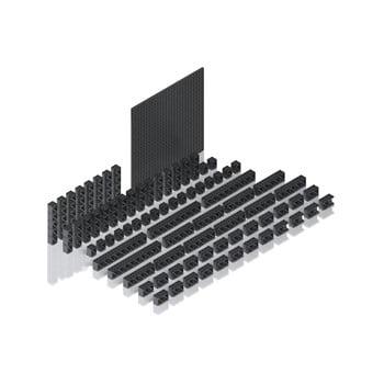 Set cuburi pentru pistă cu bile Hubelino Pi, 78 piese imagine