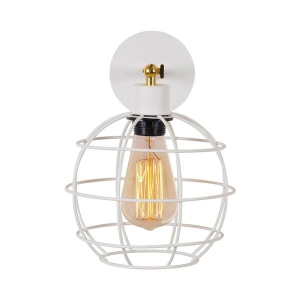 Bílá nástěnná lampa Double