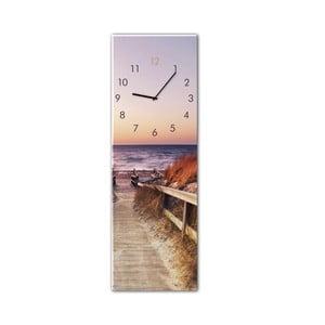 Nástěnné hodiny Styler Glassclock Sunset, 20 x 60 cm