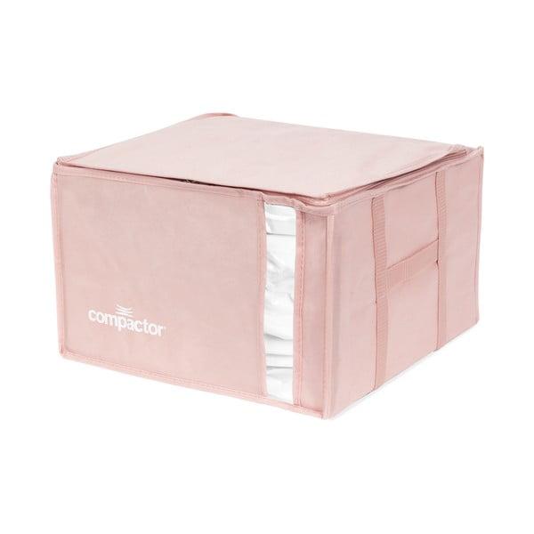 Ružový úložný box na oblečenie Compactor XXL Pink Edition 3D Vacuum Bag, 125 l