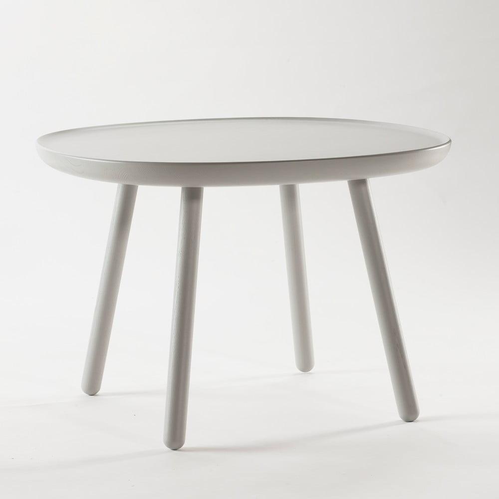 Šedý odkládací stolek z masivu Emko Naïve Large