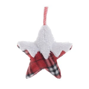 Bíločervená ávěsná dekorace InArt Star
