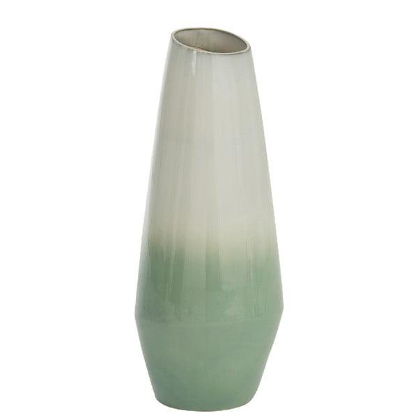 Světle zelená váza J-Line Botanic, výška 50 cm