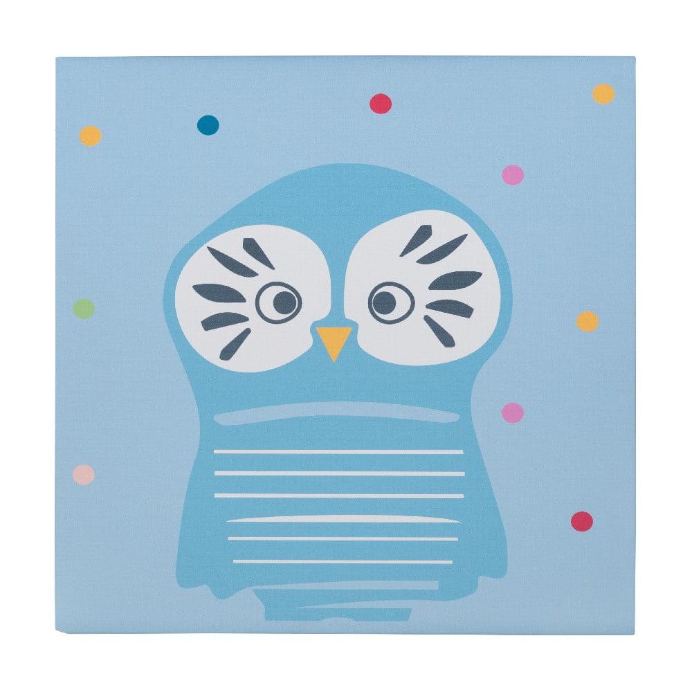 Nástěnný dřevěný obraz s motivem sovičky KICOTI Owl, 40 x 40 cm