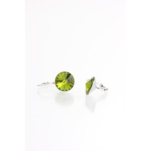 Zelené náušnice s krystaly Swarovski® Yasmine Longie