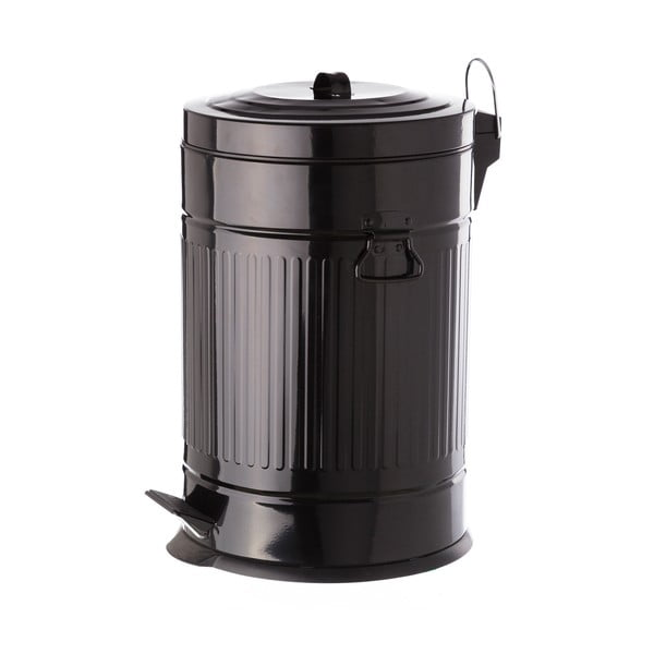 Čierny kovový odpadkový kôš Unimasa, 20 l