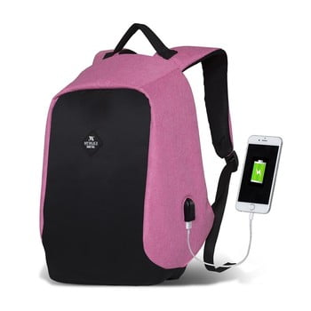Rucsac cu port USB My Valice SECRET Smart Bag, negru-roz de la Myvalice
