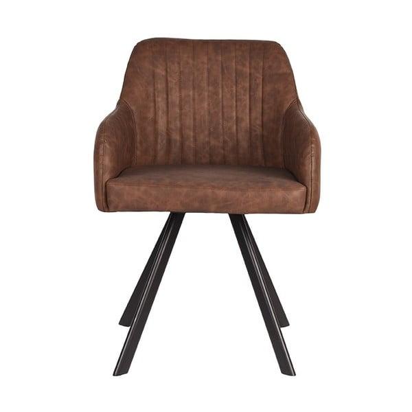 Tmavě hnědá jídelní židle LABEL51 Floor 55