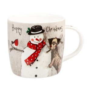 Hrnek z kostního porcelánu Churchill China Xmas Snowman, 284 ml