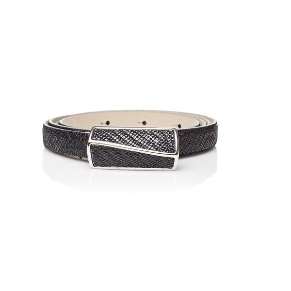 Černý kožený dámský pásek Ferruccio Laconi Palas, délka 95 cm