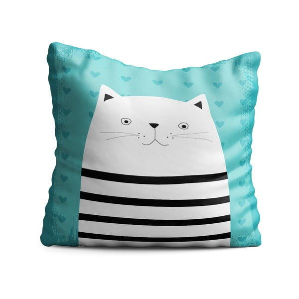 Pernă pentru copii OYO Kids Animals With Stripes Cat, 40 x 40 cm