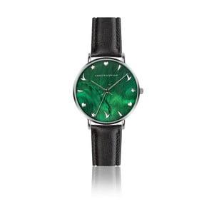 Dámské hodinky s černým páskem z pravé kůže Emily Westwood Grace