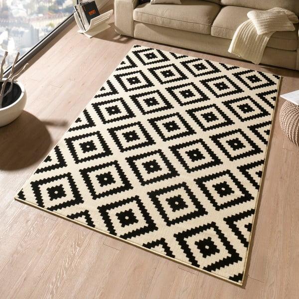 Černý koberec Hanse Home Hamla Diamond Black, 80x300cm