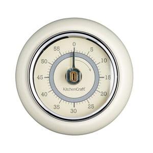 Kuchyňská magnetická minutka v krémové barvě Kitchen Craft Living Nostalgia,⌀7,5cm