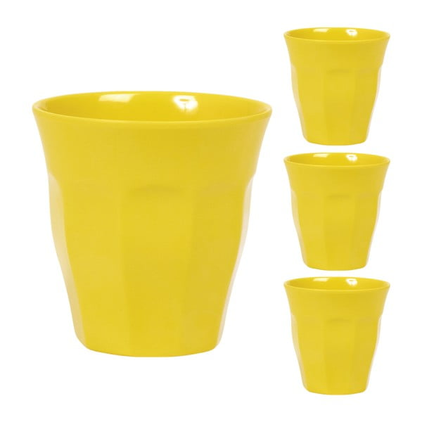 Hrnky Cup Yellow, 3 ks